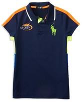 Ralph Lauren Girls' Airflow US Open Ball Girl Polo Shirt - Sizes 2-6X