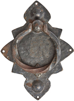 Rejuvenation Rustic Wrought Iron Door Knocker w/ Weathered Finish