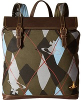 Vivienne Westwood Africa Harlequin Steamer Rucksack Backpack Bags