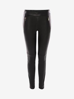 Alexander McQueen Stapled Leather Pants
