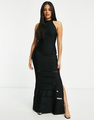 Lipsy bandage maxi dress in black