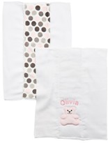 N. Infant Girl's Bibz Thingz Personalized Burp Cloths