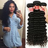 Peruvian Soft Feel Virgin Hair Deep Wave Bundles Thick Human Raw Deep Curly 4 Bundles Make U a Beauty Queen (16 16 18 18)