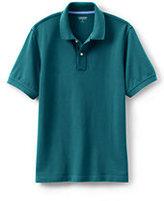 Lands' End Men's Mesh Polo Shirt-Rich Red
