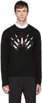 Valentino Black Love Blade Sweater