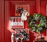 Pottery Barn Mirrored Entertaining Shelves, Pewter