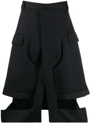 Maison Margiela cut-out tailored shorts