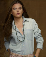 Denim & Supply Ralph Lauren Top, Long-Sleeve Chambray Shirt, Sun-Faded Wash
