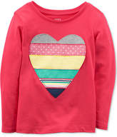 Carter's Cotton Heart T-Shirt, Little Girls and Big Girls