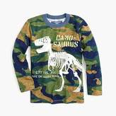 "J.Crew Boys' long-sleeve glow-in-the-dark ""Camosaurus"" T-shirt"