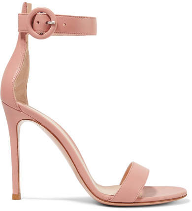 Gianvito Rossi Portofino 105 Leather Sandals - Blush