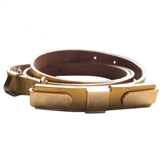 Hoss Intropia Gold Leather Belts