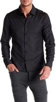 Rogue Genuine Leather Yoke Long Sleeve Trim Fit Shirt