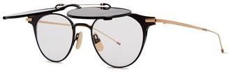 Thom Browne TB814 flip-up round-frame glasses