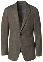 Banana Republic Slim Olive Wool Tweed Blazer