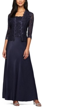 Alex Evenings Petite 2-Pc. Lace Jacket & A-Line Dress Set