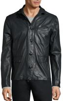 John Varvatos Slim Fit Sheep Skin Leather Jacket