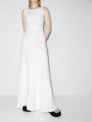 HONORINE White Lisette Linen Maxi Dress