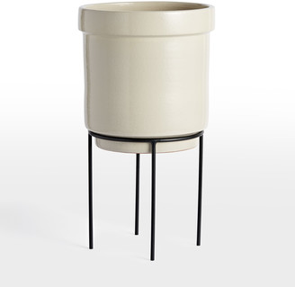 Rejuvenation Brice Large with Tall Modern Metal Plant Stand