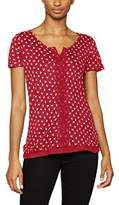 Tom Tailor Women's Birdy Crincle Top T-Shirt