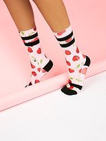 Stance Cherry Hearts Crew Sock by at Free People