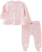 Absorba Pink Swan Ruffle-Hem Tee & Footie Pants - Infant