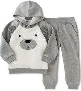Kids Headquarters Baby Boys' 2-Pc. Faux-Fur Bear Hoodie & Pants Set