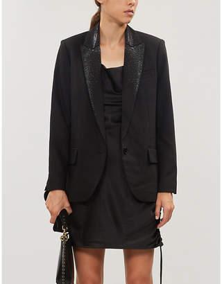 Zadig & Voltaire ZADIG&VOLTAIRE Viking strass-embellished stretch-crepe blazer