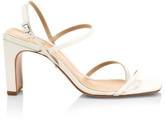 Schutz Amaia Slingback Leather Thong Sandals