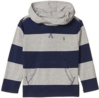 Polo Ralph Lauren Kids Yarn-Dyed 30/1 Jersey Long Sleeve Hood Tee (Little Kids/Big Kids) (Andover Heather Multi) Boy's Clothing