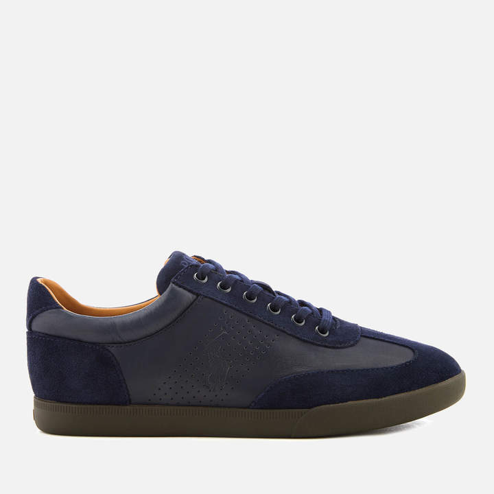 Men's Cadoc Navy Athletic Leather Trainers Newport P80OkwnX