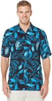 Cubavera Big & Tall Short Sleeve Allover Tropical Print Shirt