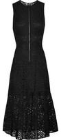 A.L.C. Rollins Cutout Ruffled Guipure Lace Midi Dress