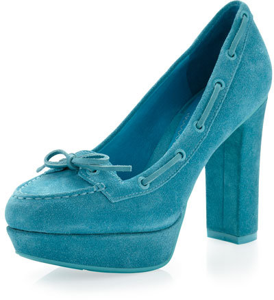 Sperry Suede Pump, Turquoise