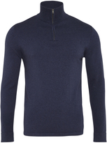 Oxford Milo Zip Collar Knit Navy X