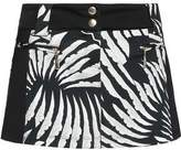 Just Cavalli Printed Stretch-Jersey Mini Skirt