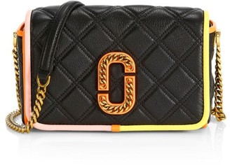 Marc Jacobs Flap Leather Quilted Crossbody Bag