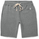 Todd Snyder + Champion - Cut-off Fleece-back Cotton-blend Jersey Shorts - Gray