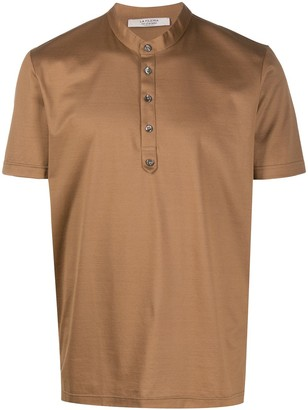 La Fileria For D'aniello Mandarin Collar Polo Shirt