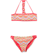 Vigoss Sparkling Cosmo Geometric Beaded Bikini - Girls