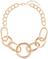Kenneth Jay Lane Mixed-Link Statement Necklace, Golden