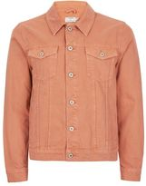 Topman Pink Denim Western Jacket