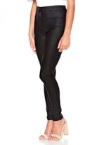 Quiz Black Shiny PU High Waist Skinny Trousers