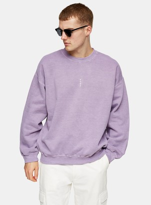 Topman Lilac Vertical Rome Sweatshirt