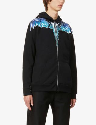 Marcelo Burlon County of Milan Wing-print zipped cotton-jersey hoody