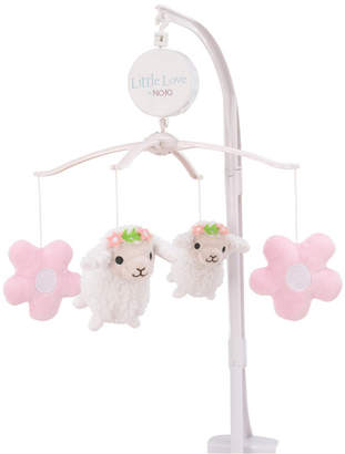 NoJo Farm Chic Little Lambs and Flowers Musical Mobile Bedding