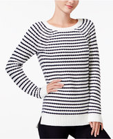 Maison Jules Striped Raglan Sweater, Only at Macy's