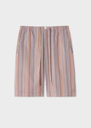 Paul Smith Men's Signature Stripe Cotton Pyjama Shorts