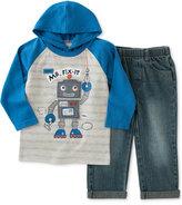 Kids Headquarters Little Boys' 2-Pc. Graphic-Print Hoodie & Jeans Set