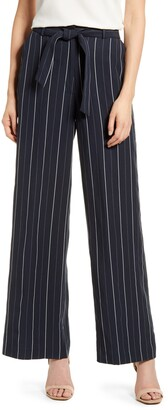 Chelsea28 Striped Tie High Waist Pants